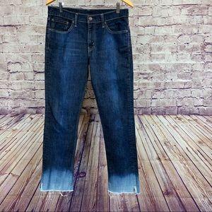 Levi Strauss 511 Medium Wash Distressed Jeans